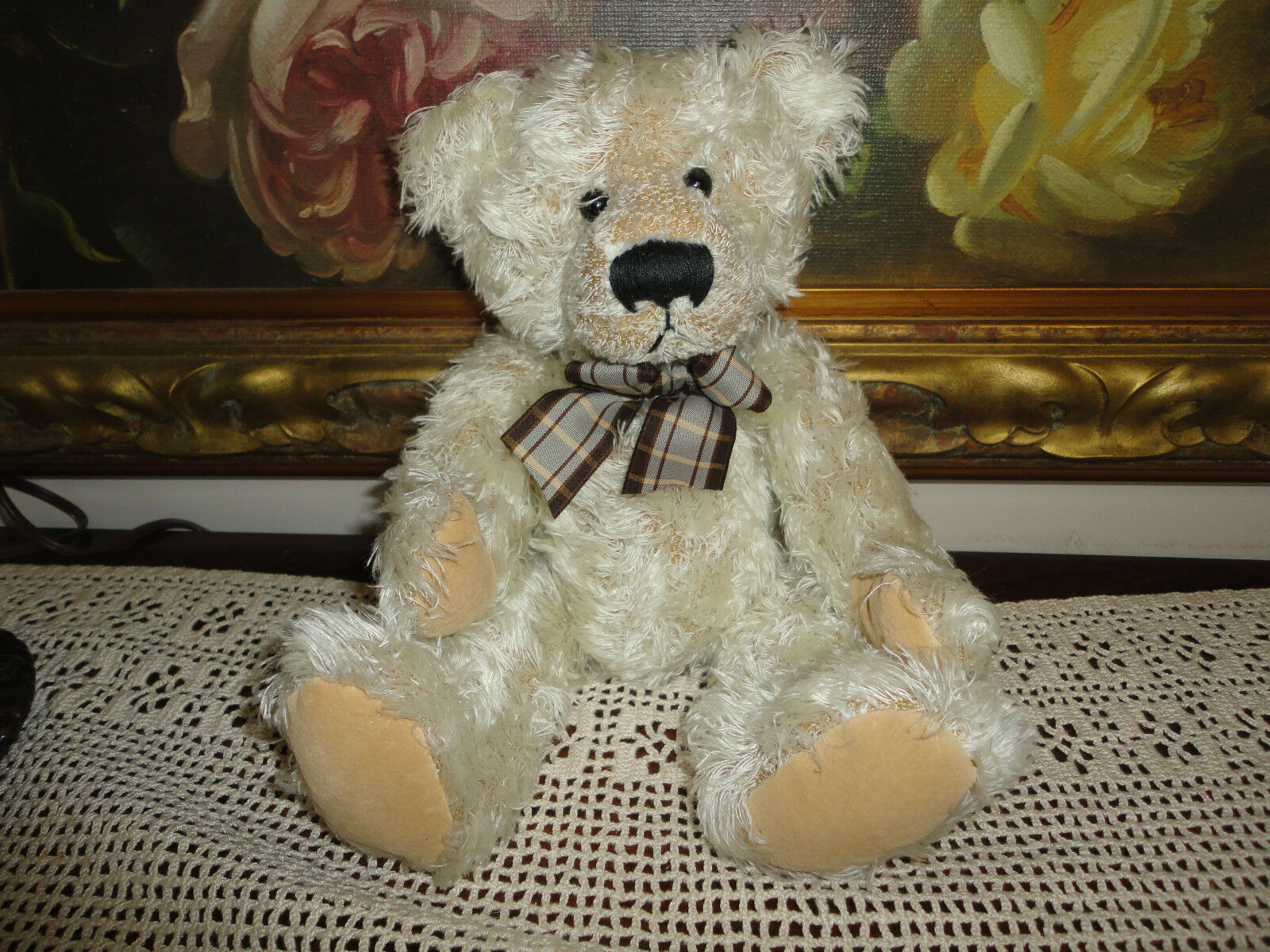 Russ OLIBY Bear 12 inch Item 24018 Retirosso Faux Antique Style Long Plush