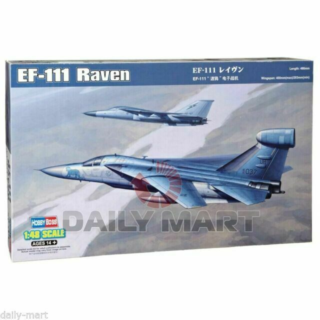 HobbyBoss 80352 1//48 Scale US EF-111 Raven Plastic Assembly Aircraft Mode Kits