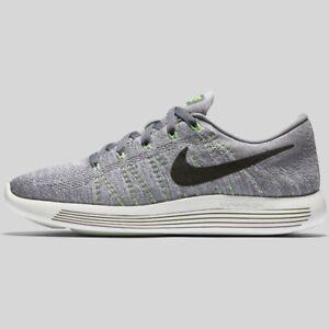 Nike Lunarepic Low Flyknit Mens Size Running Cool Grey Black Green 843764 005