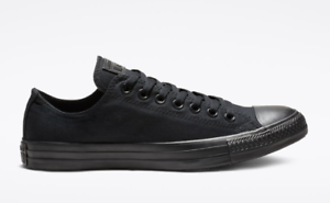 Details about Converse Chuck Taylor All Star Unisex Black Mono Low Top