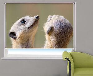Digital-Print-Photo-Roller-Blind-Meerkats-Animal-Picture-Blackout-Window-Blind