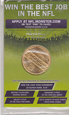 SUPER BOWL XXLIII TAMPA BAY 2009 MONSTER.COM COIN TOSS PROMO STEELERS vs CARDS