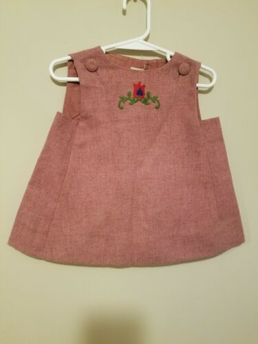 Vintage 1960s 70s Ruth Of Carolina Baby Girls Dres