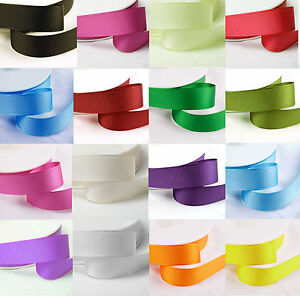 10-Mtr-039-s-of-Grosgrain-Ribbon-10mm-3-8-034-width-Various-Colours