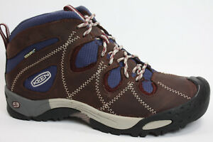 cheap for discount e44ef 4101a Details about Keen Women's Trekking Hiking shoes Genoa Peak Mid WP Leather  Bordo New- show original title
