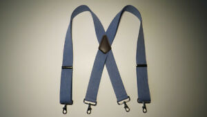 HIGH QUALITY X  Style. Many Colors BELT LOOP SNAPS MEN'S SUSPENDERS.MADE IN USA