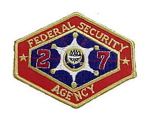 """Outland Movie Federal Security Agencey FSA Logo 4"""" Embroidered Patch (OLPA-01)"""