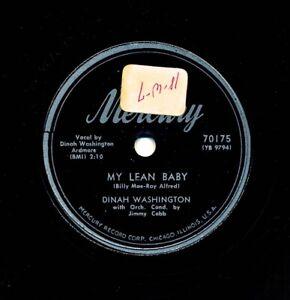DINAH-WASHINGTON-on-E-1953-Mercury-70175-My-Lean-Baby-Never-Never