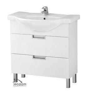 das bild wird geladen badmoebel waschbecken 80 cm waschtisch waschbeckenunterschrank schubladen d