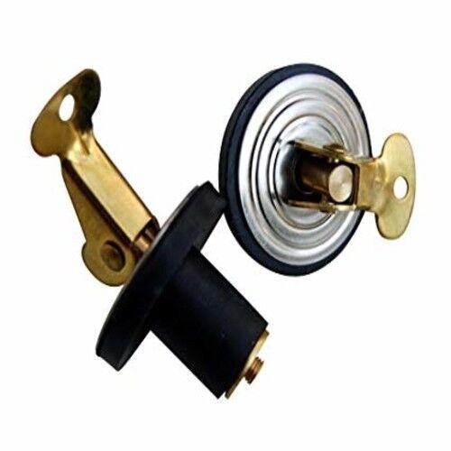"Boat Marine Baitwell Snap-Lock Plug 1 Pair 1//2/"" Brass Cam W// Neoprene Body"