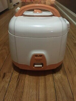 Cuckoo Cr 0331 Rice Cooker 3 Cups Uncooked 1 5 Liters 1 6 Quarts Orange Used Ebay