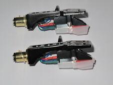 Portatestina Nero x 2 + stereo in movimento CARTUCCIA Magnetico Cover Assembly + Stylus