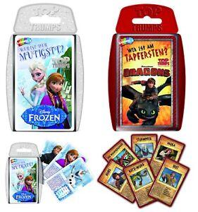 Top-Trumps-Set-Disney-Frozen-und-Dreamworks-Dragons-Quartett-Kartenspiel-Spiel