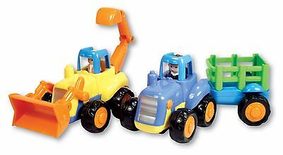 NEW MODEL TOY FARM TRACTOR DIECAST PLASTIC DETAILED PUSH ALONG 3 FOR 2 OFFER