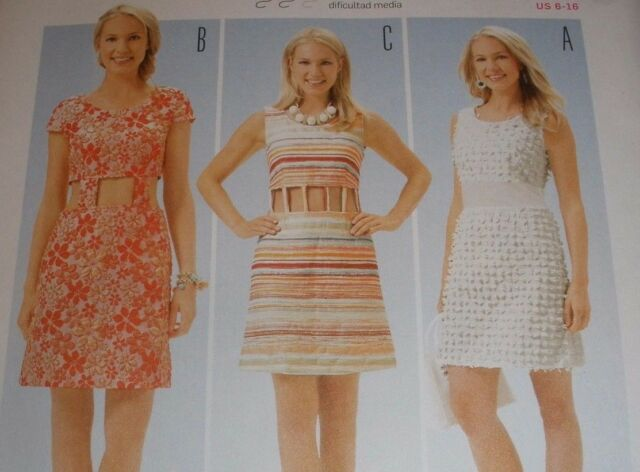 Burda Young Sewing Pattern 6653 Misses 6-16 Waist Cut out Panel ...