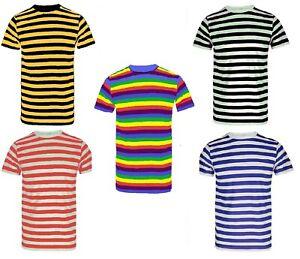 New-Men-039-s-Striped-Cotton-Stripey-T-Shirt-Short-Sleeve-Stripe-Cotton-T-Shirt-Top