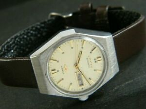 VINTAGE CITIZEN AUTOMATIC JAPAN WOMENS DAY/DATE WATCH 374g-a187968-9