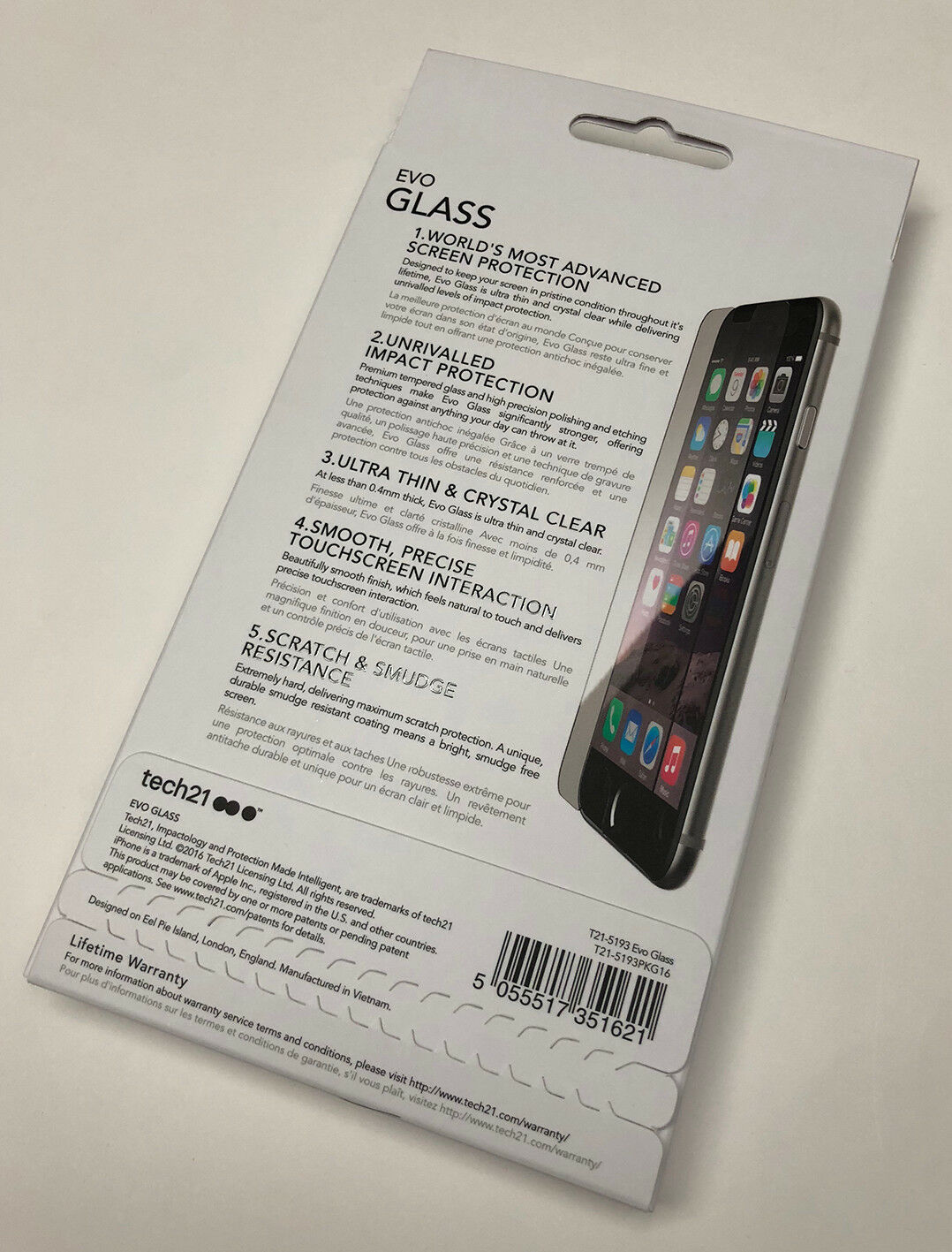 low priced 2161a 85e9f Official Tech21 Evo Glass Advanced Screen Protection for iPhone 8 ...