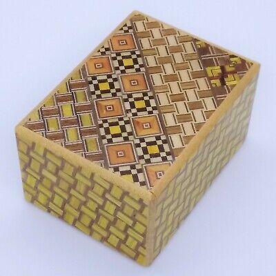 12 steps Walnut wood 3 sun Japanese Puzzle Box Karakuri Himitsu-bako OKA CRAFT