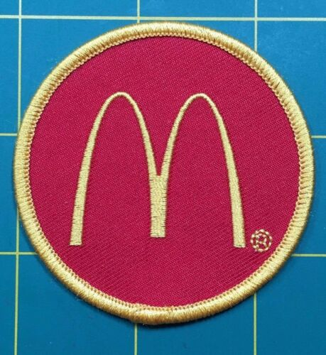 "McDonald/'s patch McDonald/'s Golden Arches 2.5/"" dia."