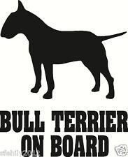 Bull Terrier Inglese a bordo, Auto Adesivo, Silhouette. GRANDE Regalo per Amante dei Cani