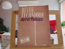 REVUE TECHNIQUE AUTOMOBILE N°104 DECEMBRE 1954 TBE FIAT 1100 CHEVROLET POWERGLID