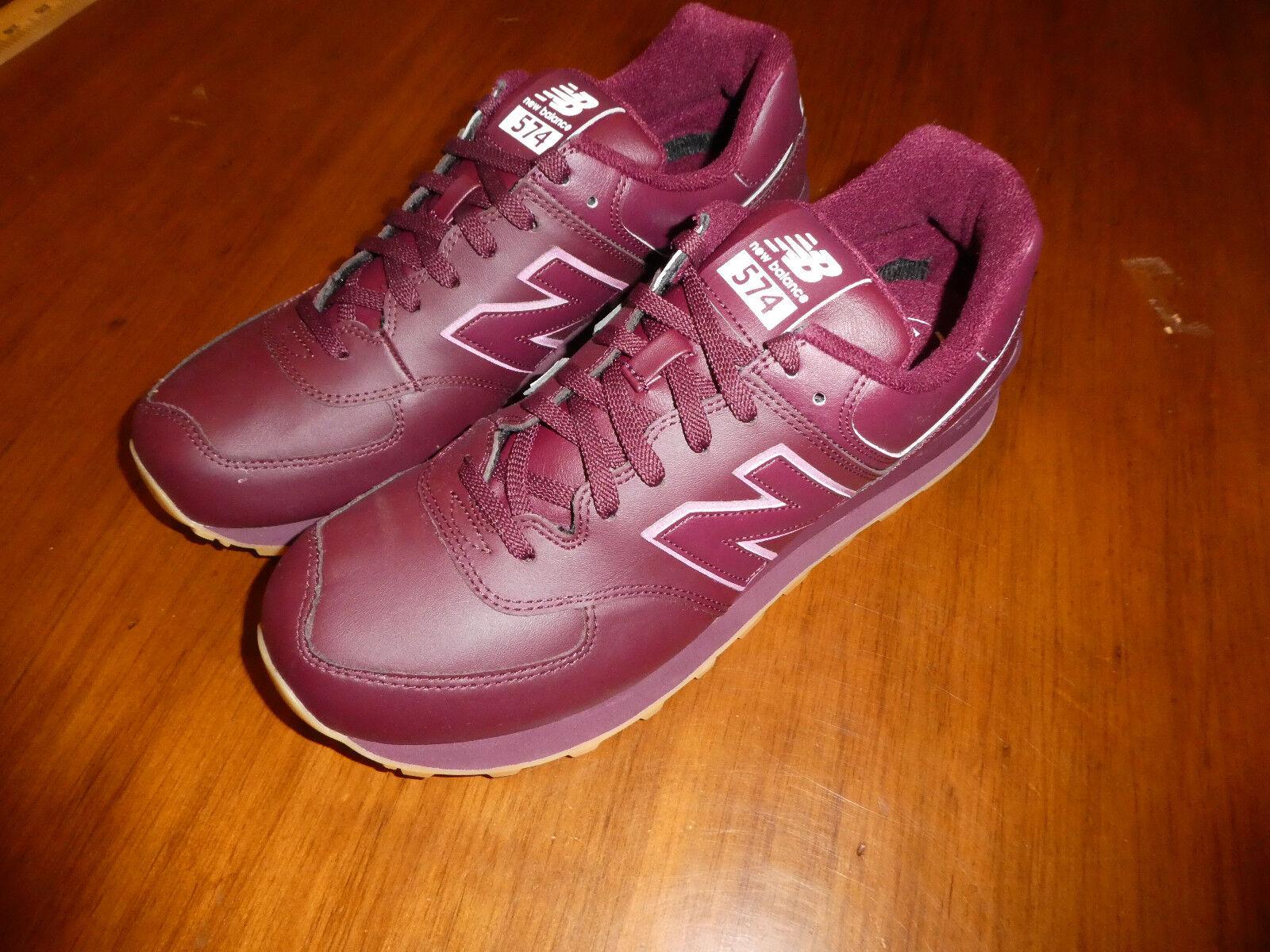 Mens New Balance NB574AAB 9.5 Shoes 574  Size 9.5 NB574AAB burgundy gum cb84b8