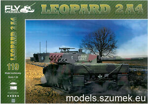 Details about Fly Model 119 Leopard 2A4 scale 1/25 paper-card model
