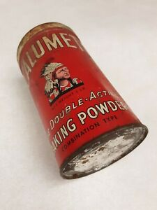 Calumet Baking Powder Red Tin Vintage Advertising Collectible Kitchen Chicago IL