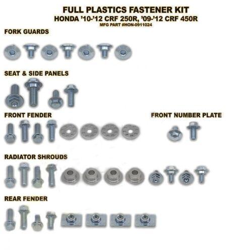 CRF 450 09-12 Bolt Schraubenkit Plastikteile geeignet für Honda CRF 250 10-13