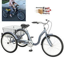 2f218e27bd9 3 Wheel Bicycle Bike Schwinn Adult Tricycle 24