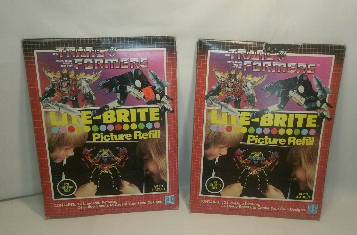 NEW RARE VINTAGE 1985 TRANSFORMERS LITE-BRITE PICTURE REFILL FACTORY SEALED