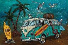 BEACH BREAK - CAMPER VAN PARODY POSTER - 24x36 - FUNNY 11540