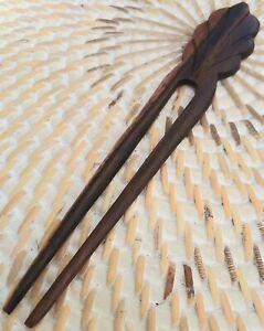 Pic à Cheveux en Bois Pique Ethnique baguette cheveux bijoux noir blanc zèbre