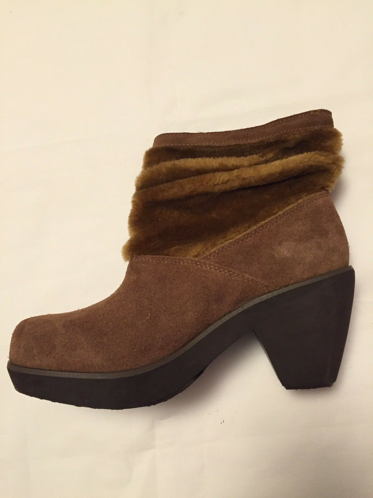 Size 7 Ladies Womens Skechers Disco Bunny Fur Out Trimmed Slouch Boots Chestnut