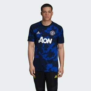 Manchester United Adidas Men Pre-Match Jersey DX9089 Mystery Ink ...