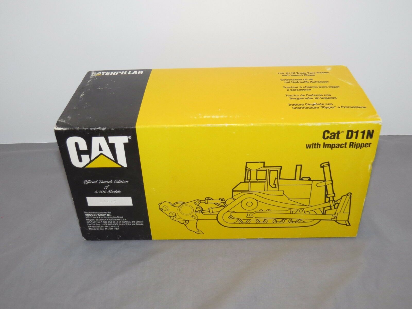 Caterpillar D11N Ripper Conrad Toy Limited 1 50 NIB Launch Edition Tractor 2854