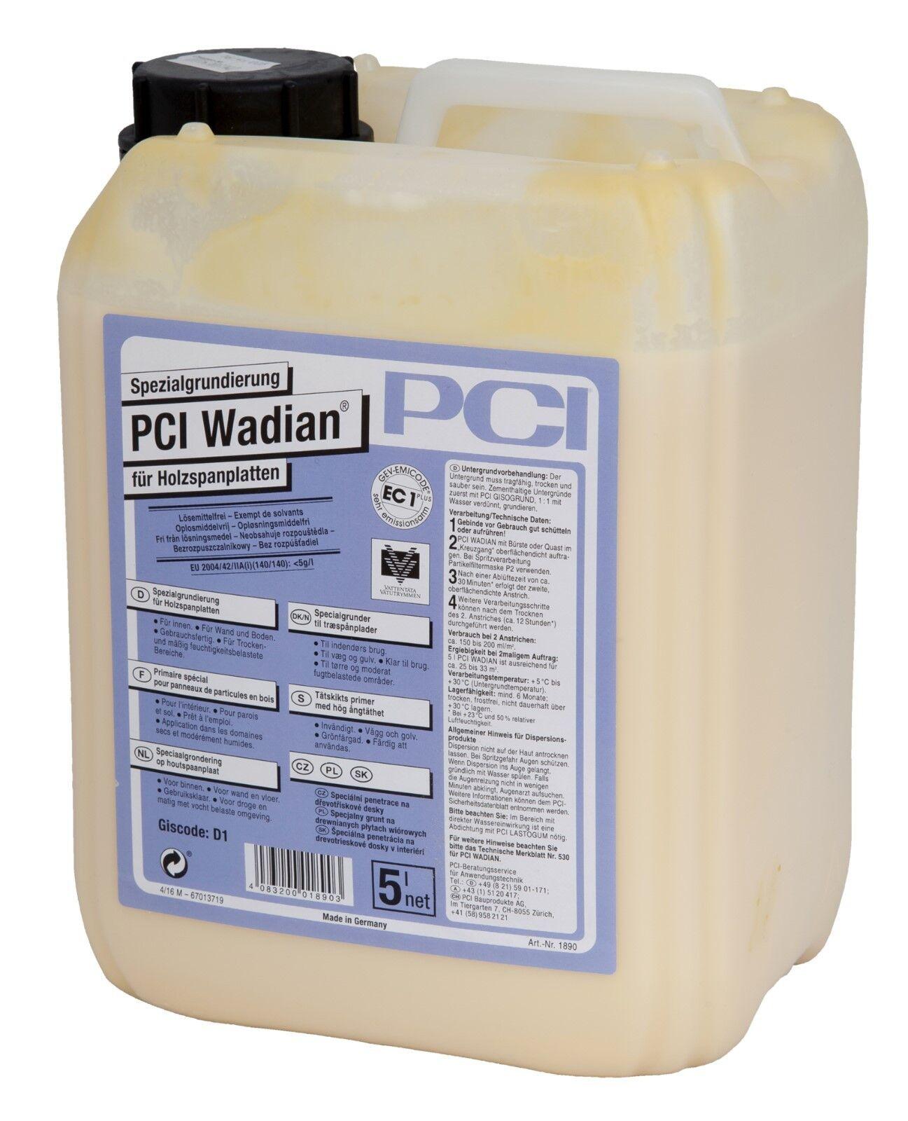 PCI Wadian 5 L Spezialgrundierung für Holzspanplatten Grundierung Spanplatte