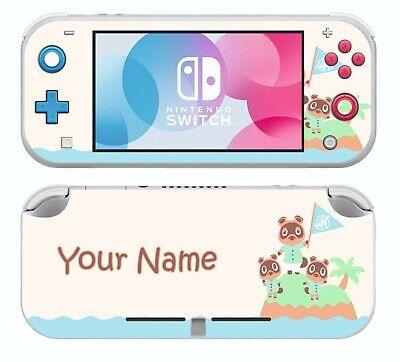 Nintendo Switch Lite Personalised Animal Crossing Sticker Skins