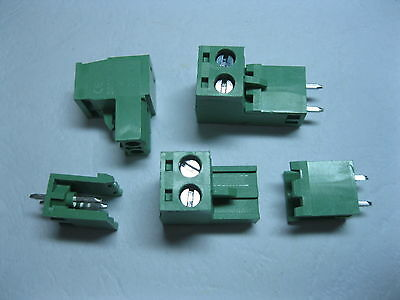 20 pcs 2pin/way 5.08mm Screw Terminal Block Connector with Straight-pin