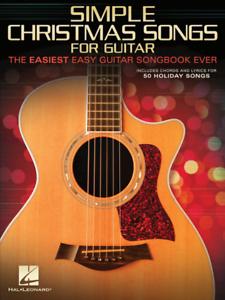 """""""simple Chansons De Noël"""" Le Plus Simple Facile Guitare Répertoire Jamais-music Book-neuf!!!-afficher Le Titre D'origine"""