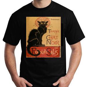 Tee Sz Chat L Black Shirt Paris Noir Cabaret Xl M Mens S White T eErxCWQBdo