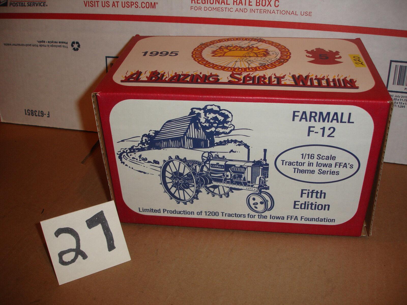 calidad fantástica 1 16 16 16 Farmall F 12 Iowa FFA Juguete tactor  entrega de rayos