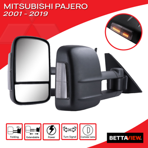 Bettaview Towing Mirrors Electric Extendable Mitsubishi Pajero 2001 to Current