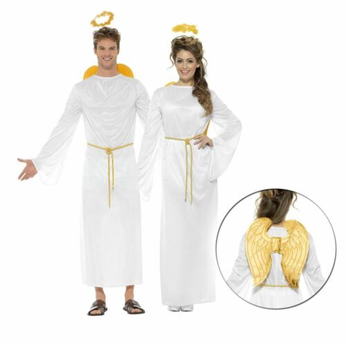 Adulte Ange Gabriel Costume Hommes Femmes Noël Nativité Costume Halo Wing Unisexe