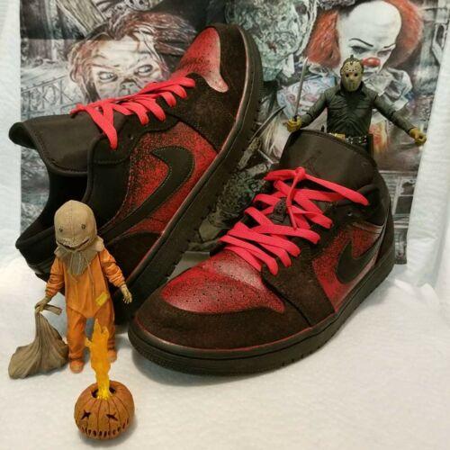 """Custom """"horror"""" themed nike air Jordan's"""