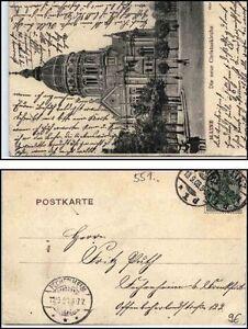 1903-AK-von-MAINZ-nach-Fechenheim-gelaufen-Motiv-Christuskirche-Christus-Kirche