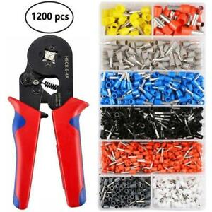 1200X-Ferrule-Crimper-Cable-Tube-Crimping-Plier-Tool-Wire-Terminal-Connector-Set