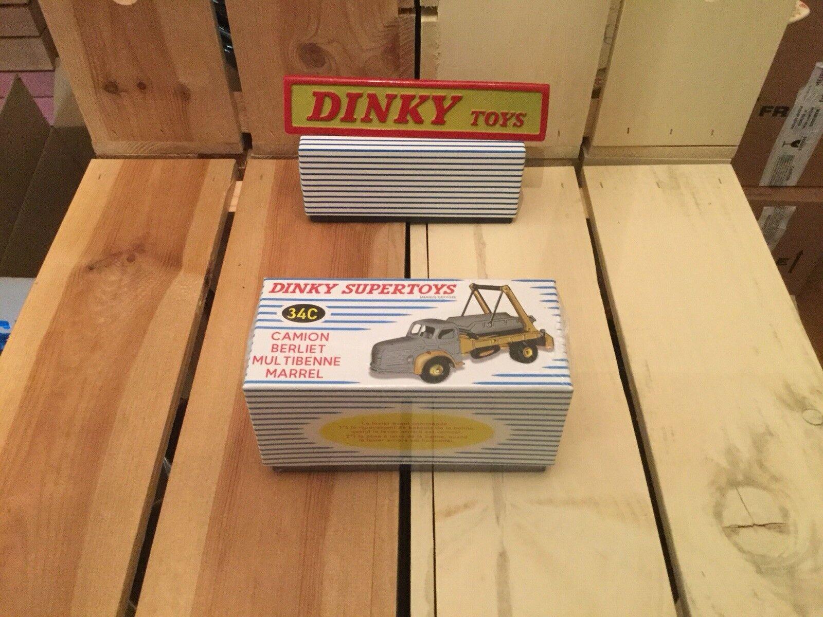 Atlas Dinky Toys Camion Berliet Multibenne Marrel 34C