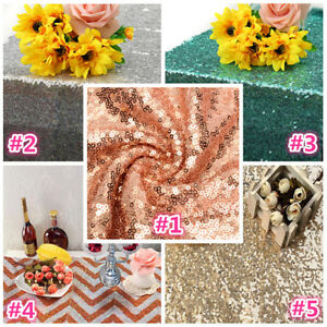 Image is loading Table-Runner-Rectangle-Sequin-Tablecloth-Banquet-Wedding- Reception- 66420eacfdd2